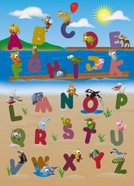 Fotobehang Idealdecor 00383 Animal Alphabet
