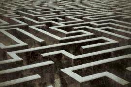 Fotobehang Labyrint