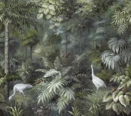 Eijffinger Oasis 317408 Wallpower Painted Paradise Fauna 318cm x 280cm hoog
