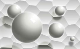 Fotobehang Monochrome met Ballen