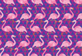 Fotobehang Flamingo Pattern