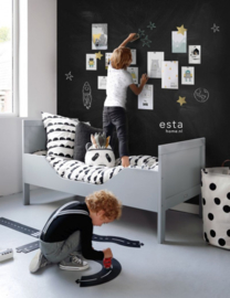 Behang Esta home - Scandi Cool 155002 Magnetic Chalkboard Zwart