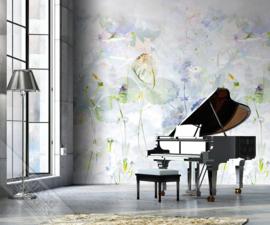 Colorful Florals&Retro fotobehang designed by INGK7307