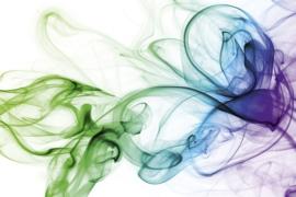 Fotobehang Koud gekleurde rook