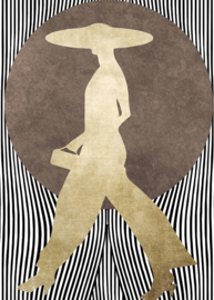 Fotowand La madame noir by Kubistika afm. 200cm x 280cm hoog