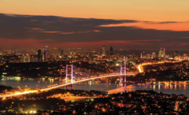 Fotobehang Istanbul Skyline