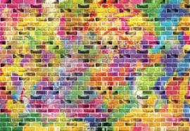Fotobehang Multicoloured Brick Wall
