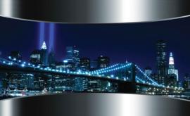 Fotobehang New York Brooklyn Bridge Doorkijk