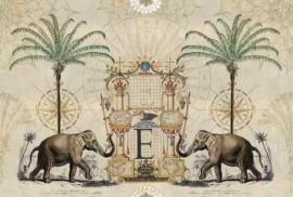 Fotowand Nostalgic elefant by Andrea Haase afm. 400cm x 270cm hoog