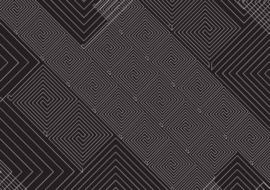 Fotobehang Abstract art pattern black