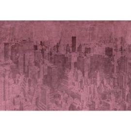 Fotobehang New York the City Roze
