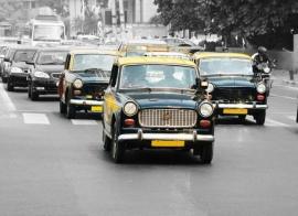 Fotobehang City Love CL73A Mumbai taxi