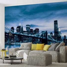 Fotobehang New York City Brooklyn Bridge