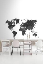 Esta Black&White 158941 photowall XL Marble Wrold map black & white