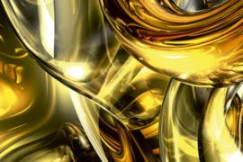 Fotobehang Gouden draad