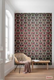 Komar Heritage HX4-033 Paon rouge Jugendstil fotobehang