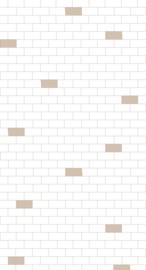 Bibelotte behang Tegels nude 28081