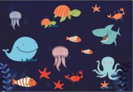 Fotobehang Friends under the Waves