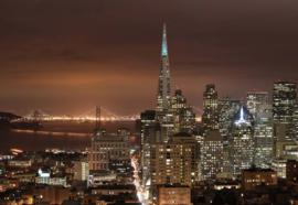 Fotobehang San Francisco City Skyline