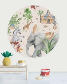 Creative Label behangcirkel Elephant 145cm