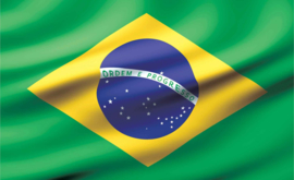 Fotobehang vlag Brazilië