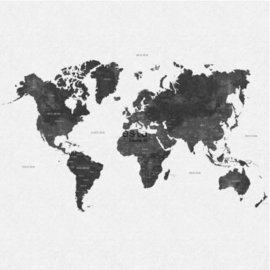 Esta photowallXL  158854 World map grey