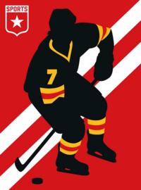 Fotowand Ice Hockey by Bo Lundberg afm. 200cm x 270cm hoog