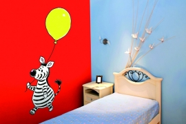Sweet Collection by Monica Maas - Zebra with a Yellow Balloon art. 5080