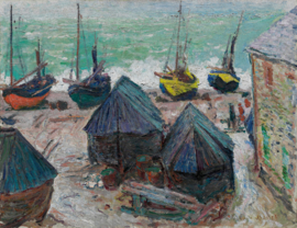 Dutch Painted Memories 8078 Boats on the beach at Etretat