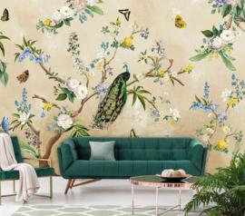 Floral Utopia INK7559 fotobehang afm. 400cm breed x 280cm hoog