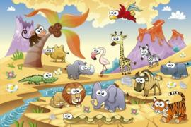 Fotobehang Savanne dieren