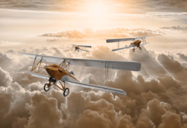 Fotobehang Vliegen boven de Wolken