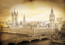 Fotobehang London Vintage Sepia