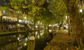 Fotobehang Holland 1174 - Utrecht by night