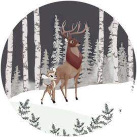 Komar Into Adventure DD1-014 Bambi Great Prince cirkel zelfklevend 125cm