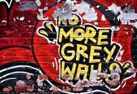 Fotobehang Idealdecor 00126 No More Grey Walls Graffiti