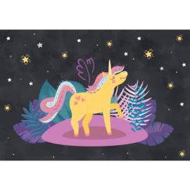 Fotobehang Ula la Unicornio Night Stars