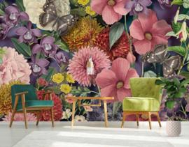 Floral Utopia INK7577 fotobehang afm. 400cm breed x 280cm hoog