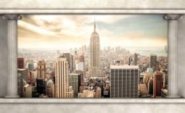 Fotobehang Doorkijk New York  Pilaren
