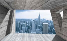 Fotobehang Doorkijk New York Skyline