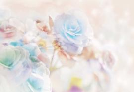 Fotobehang Pastel Flowers