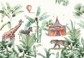 Creative Lab Amsterdam Jungle Circus 400cm x 280cm hoog