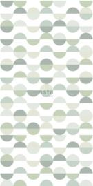 Esta photowallXL 158904 Retro semi circles pattern