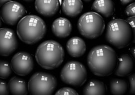 Fotobehang Zwarte Ballen