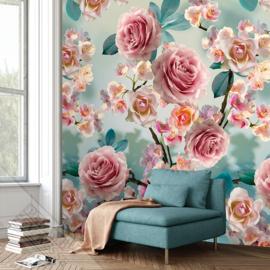 Colorful Florals&Retro fotobehang designed by INGK7294