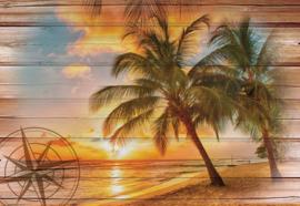 Fotobehang Rustic Tropical Beach