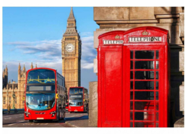 Fotobehang Big Ben en Dubbeldekker