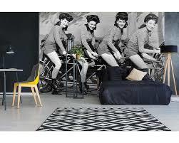 Fotobehang Samen op de fiets