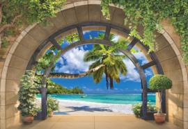 Fotobehang Tropical Beach Archway