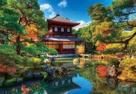 Fotobehang Japans gebouw in bos